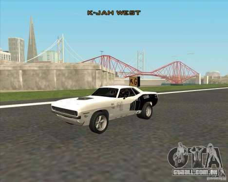 Plymouth Hemi Cuda Rogue para GTA San Andreas vista direita