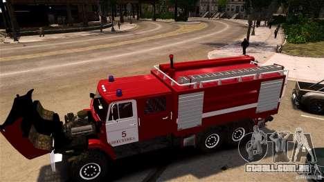 ZIL 433474 bombeiro para GTA 4 traseira esquerda vista