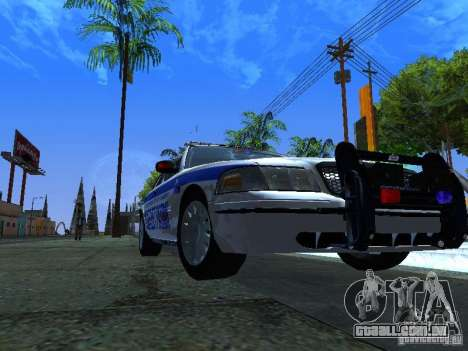 Ford Crown Victoria Police Interceptor 2008 para GTA San Andreas esquerda vista
