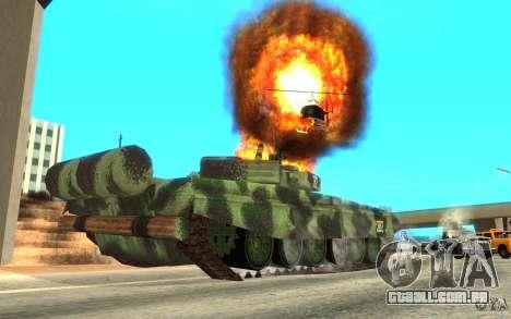 Tanque T-72 para GTA San Andreas vista traseira