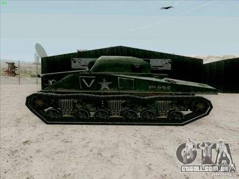 Sherman para GTA San Andreas traseira esquerda vista