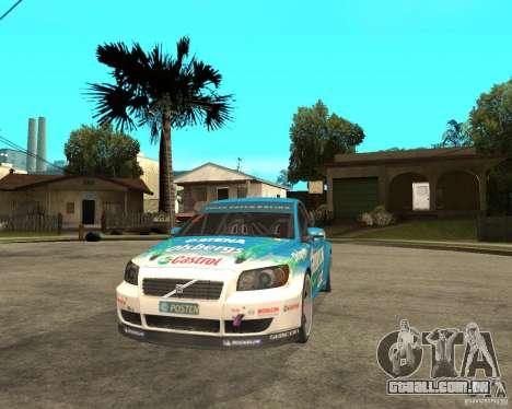 VOLVO C30 STCC para GTA San Andreas vista traseira