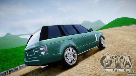 Range Rover Vogue para GTA 4 vista inferior