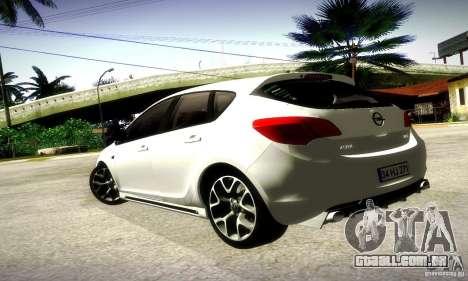 Opel Astra Senner para GTA San Andreas traseira esquerda vista