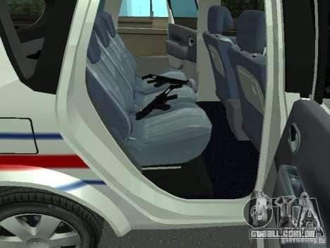 Renault Scenic II Police para GTA San Andreas vista traseira