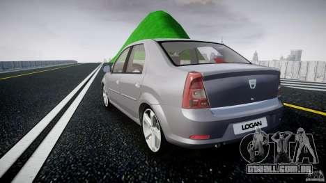Renault Logan para GTA 4 traseira esquerda vista