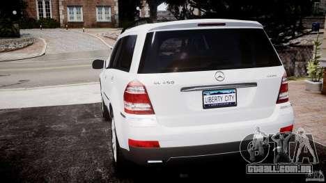 Mercedes-Benz GL450 para GTA 4 traseira esquerda vista