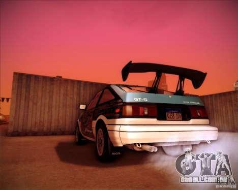 Toyota Corolla AE86 StreetAttack para GTA San Andreas esquerda vista