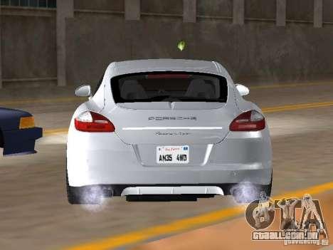Porsche Panamera Turbo Tunable para GTA San Andreas traseira esquerda vista