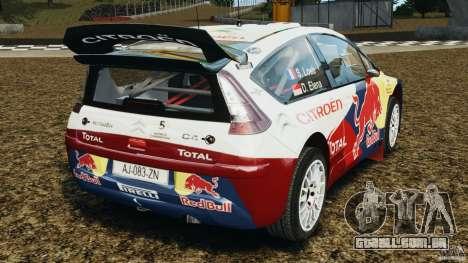 Citroen C4 WRC para GTA 4 traseira esquerda vista