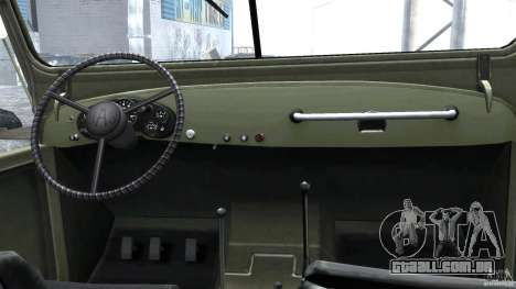 Gaz-69A, 1965 para GTA 4 vista direita