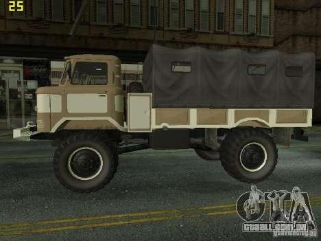 GAZ 66 Parade para GTA San Andreas traseira esquerda vista