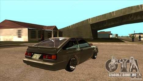 Toyota AE86 JDM para GTA San Andreas vista direita
