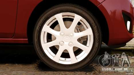 Mazda 2 2011 para GTA 4 vista superior