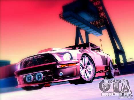 Ford Mustang Eleanor Prototype para GTA San Andreas vista interior