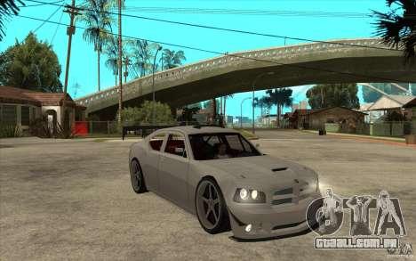 Dodge Charger 2009 para GTA San Andreas vista traseira