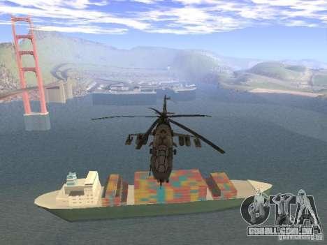 Mi-24 de COD MW 2 para GTA San Andreas vista traseira