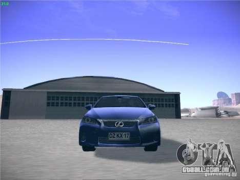 Lexus CT200H 2012 para GTA San Andreas esquerda vista