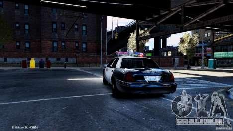 CVPI LCPD San Diego Police Department para GTA 4 traseira esquerda vista