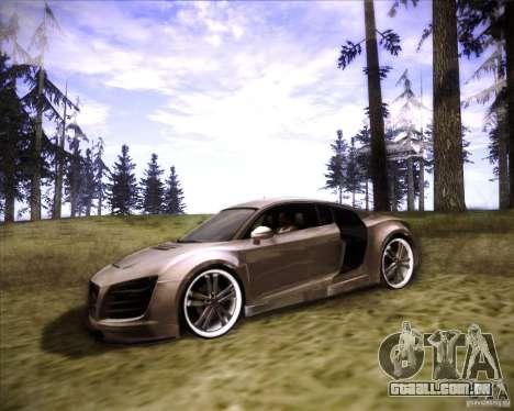 Audi R8 para vista lateral GTA San Andreas