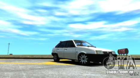 VAZ 2109 luz tuning para GTA 4 vista superior