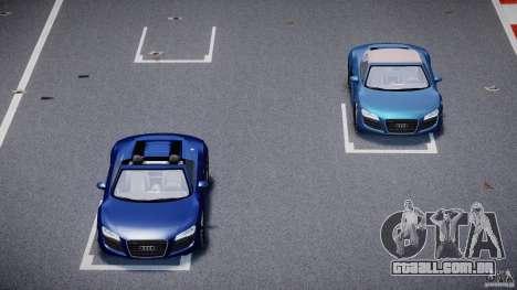 Audi R8 Spyder v2 2010 para GTA 4 vista superior