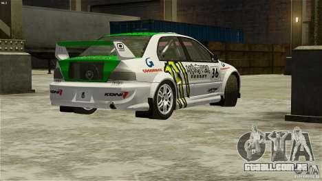 Mitsubishi Lancer Evolution IX RallyCross para GTA 4 esquerda vista