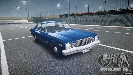 Dodge Aspen v1.1 1979 para GTA 4 vista de volta