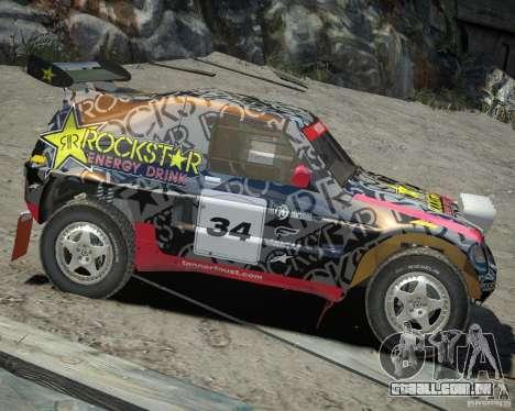 Mitsubishi Pajero Proto Dakar EK86 vinil 1 para GTA 4 vista de volta