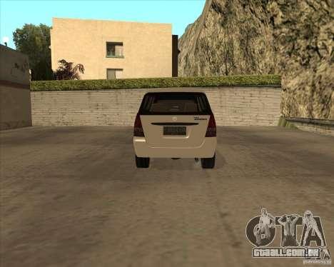 Toyota Innova para GTA San Andreas vista traseira