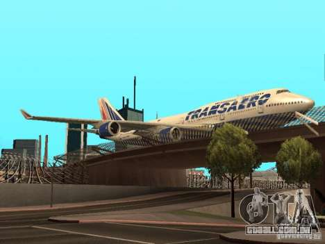 Boeing 747-400 para GTA San Andreas vista traseira