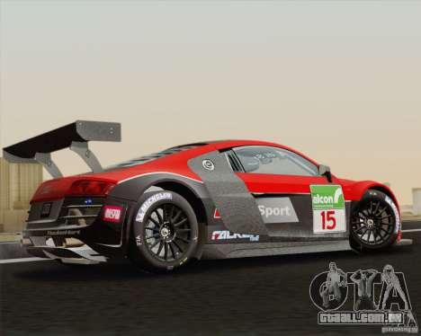 Audi R8 LMS v2.0.1 para GTA San Andreas esquerda vista