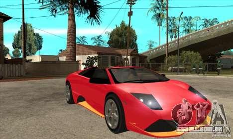 Lamborghini Murcielago LP650 para GTA San Andreas vista traseira
