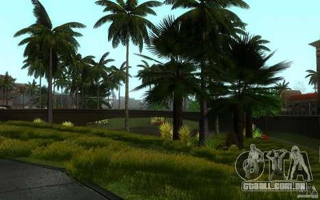 Vegetação perfeita v. 2 para GTA San Andreas nono tela