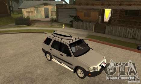 Honda CRV 1997 para GTA San Andreas vista traseira