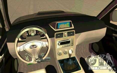 Subaru Forester Cross Sport 2005 para GTA San Andreas vista direita