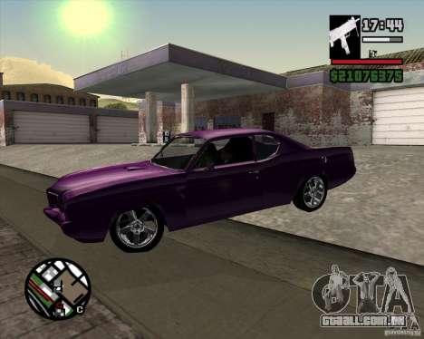Oldsmobile 442 (Flatout 2) para GTA San Andreas vista direita
