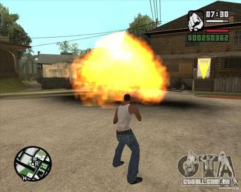 Explosão (versão para notebooks sem teclado numé para GTA San Andreas segunda tela