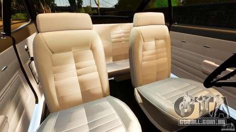 Chevrolet Corvair Monza 1969 para GTA 4 vista interior