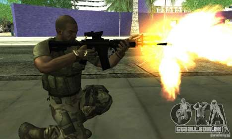 Sam Fisher Army SCDA para GTA San Andreas terceira tela