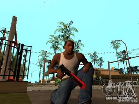 Red Chrome Weapon Pack para GTA San Andreas
