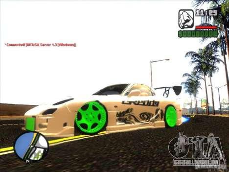 Mazda RX-7 Drift Version para GTA San Andreas esquerda vista