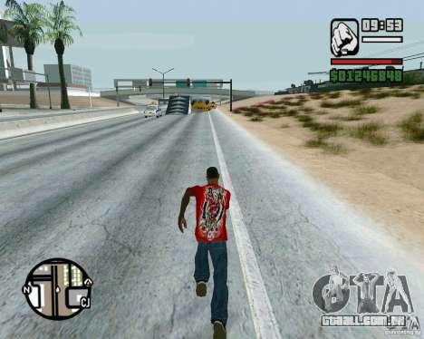 Saltos na auto-estrada em Las Venturase para GTA San Andreas terceira tela