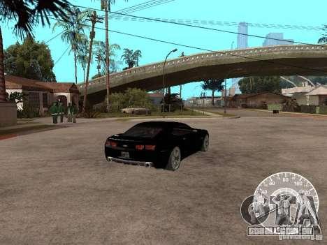 Chevrolet Camaro Concept para GTA San Andreas traseira esquerda vista