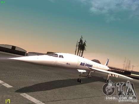 Aerospatiale-BAC Concorde Air France para GTA San Andreas