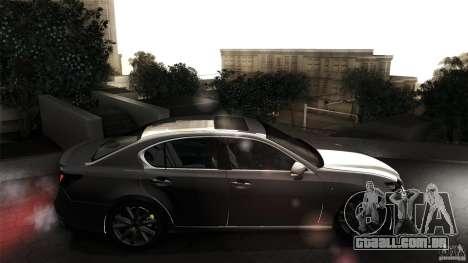 Lexus GS350F Sport 2013 para GTA San Andreas vista traseira