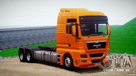 MAN TGX V8 6X4 para GTA 4 vista de volta