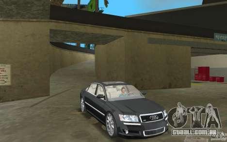 Audi A8 para GTA Vice City vista interior