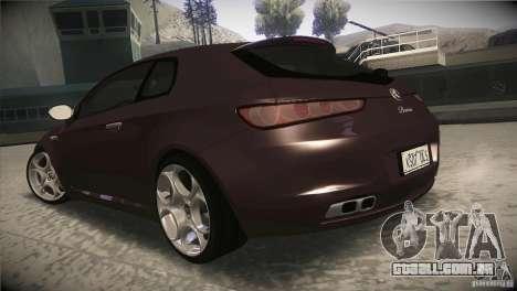 Alfa Romeo Brera Ti para GTA San Andreas traseira esquerda vista