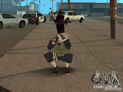 Hatake Kakashi From Naruto para GTA San Andreas sétima tela